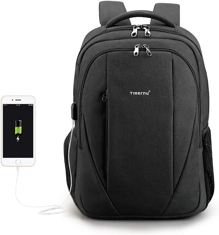 LH Schlank Reiserucksack Anti Theft College Rucksack mit USB-Ladeanschluss und Schloss für Mnner Frauen Student Durable Wasserdicht Rucksack Tasche