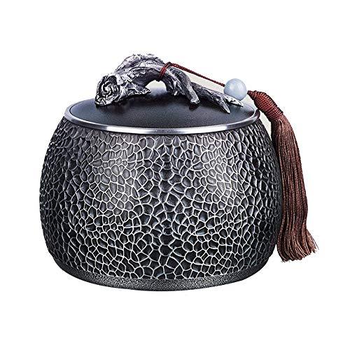 WNN-URG Set pur Tin Accessoires de thé, multi-usages et des boîtes scellées durable Inoffensif Pot décoratif classique for fruits secs, thé et café en grains, comme les cadeaux et collections WNN-URG
