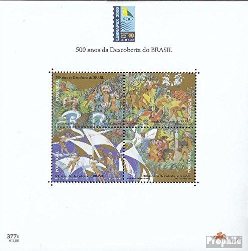 Prophila Collection Portugal Block159 (kompl.Ausg.) 2000 Entdeckung v. Brasilien (Briefmarken für Sammler)