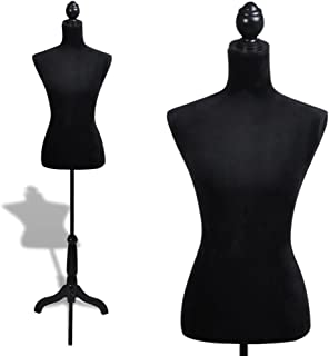 vidaXL Buste de Couture de Femme Noir Magasin Mannequin de Vitrine Feminin
