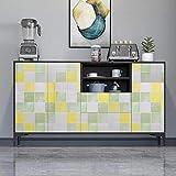 KINLO 61 * 500CM Mosaico Pegatina de Muebles para Forrar Cajón Aparador Dormitorio/Sala/Habitación de niña/Rollo Papel Pintado Pared Impermeable Vinilo Papel Adhesivo de PVC, a Prueba de Agua