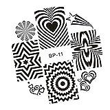 teng hong hui Nail Flor Arte Stamp Stamping Placa Estampado Juego de Herramientas Ministerio de Polaco Polaco Clavo de uñas Kit de diseño DIY Manicure Herramientas Mezclas DE DIY