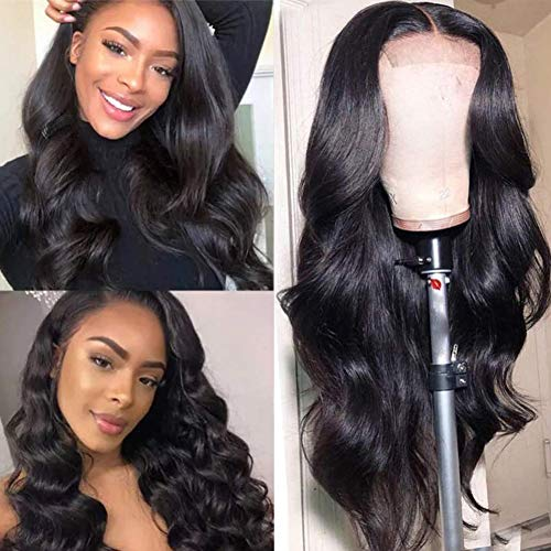 """Healthair 9A Lace Front Wigs Human Hair 12inch Brazilian Remy Human Hair Lace Front Wigs For Black Women 4X4 Body Wave Lace Closure Wigs Human Hair Wigs with Baby Hair 150% Density(12"""" Wig)"""