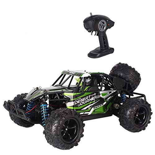 Poooc Coche de control remoto,  1:18 escala RC Truck 4WD de alta velocidad fuera de la carretera Vehículo de carreras 4x4 Monstruo eléctrico Buggy 2.4GHz Camiones recargables recargables for adultos Ch