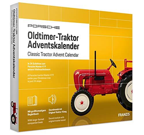 FRANZIS Porsche Traktor Adventskalender 2020 | In 24 Schritten zum Oldtimer-Traktor unterm Weihnachtsbaum | Ab 14 Jahren