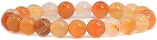 Gem Semi Precious Gemstone 8mm Round Beads Stretch Bracelet 7 Inch Unisex
