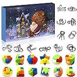 Devis Juegos de Rompecabezas Juguetes Calendario de Adviento Calendario de Navidad 2020, 24 calendarios de Adviento, Juegos de Rompecabezas de Metal, Rompecabezas de plástico