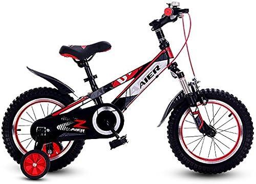 Fenfen Kinder fürrad 12 14 16 Zoll sto mpfenden m lichen und Weißichen Kinder fürrad 2-8 Jahre alt Baby fürrad rot (Größe   16 inch rot)