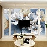 Fondo de sofá de pared de fondo de Magnolia TV, tela de fresco fresco azul, fondo de sofá, 200 × 150 cm