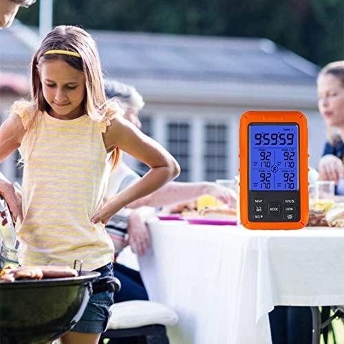 cineman Draadloze Digitale BBQ Meat Grill Thermometer Op afstand Bewaakt Voedseltemperatuur Meetunit Ontvanger voor Keuken Koken Bakken Nuttigheid