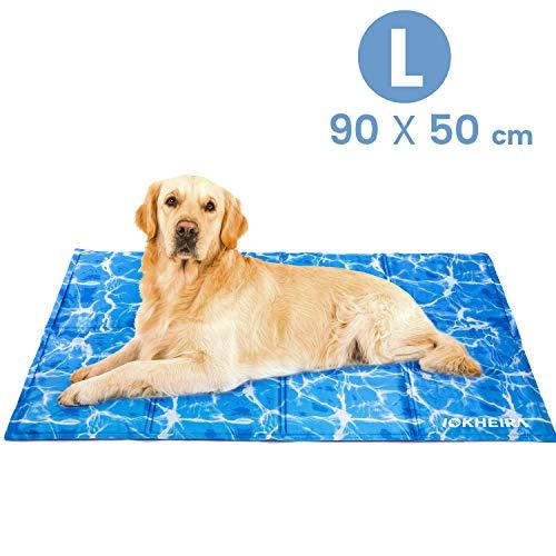 Iokheira Kühlmatte für Hunde, strapazierfähige Kühlmatte für Haustiere, Ungiftiges Gel, Selbstkühlende Kissen, ideal für Hunde Katzen im heißen Sommer