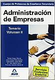 Cuerpo de profesores de enseñanza secundaria. Administración de empresas. Temario. Volumen ii de Isabel Garcia Lucas (14 may 2010) Tapa blanda