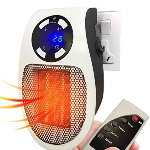 Mini Calentador de Espacio de HomeTool - Calentador Portátil de 500W - Calidad Premium - Fácil de usar - Calienta rápidamente - Calentador pequeño de soplado ideal para la cocina, el baño, la oficina