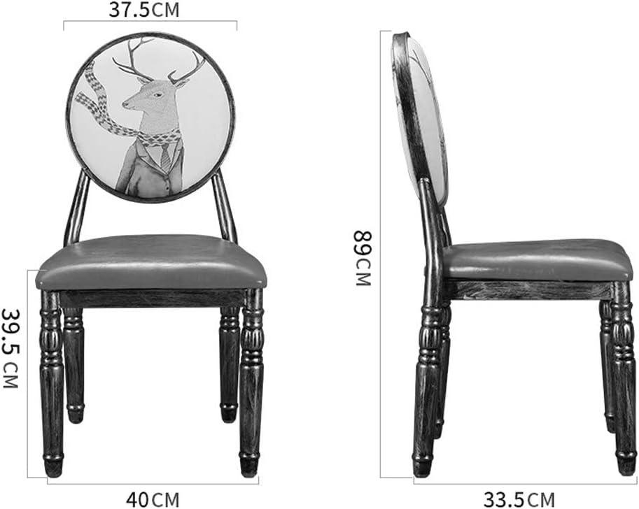 FENDOU Chaise de salle à manger simple, dossier créatif, chaise de loisirs, chaise de salle à manger pour adulte (couleur : marron) Rose-a