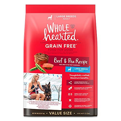 Alimento seco para perros adultos de raza grande libre de grano, con guisantes WholeHearted