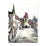 Kunstdruck Poster - Albrecht Dürer Der Hof zu Innsbruck