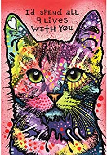 XYDXDY 3000 Rompecabezas imposibles Nine Lives Cat Skill Games para Toda la Familia Juegos de Rompecabezas Coloridos para Adultos Mayores de 6 años