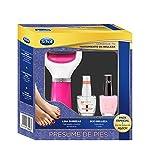 Scholl Lima Electrónica de Pies Rosa y 2 Pintauñas de Color Beige y Transparente - Pack Regalo