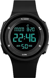 Men's Women's Unisex Sports Watches Digital LED Face Backlight Multifunction Military Waterproof for Boys Girls Wrist Watch 1445