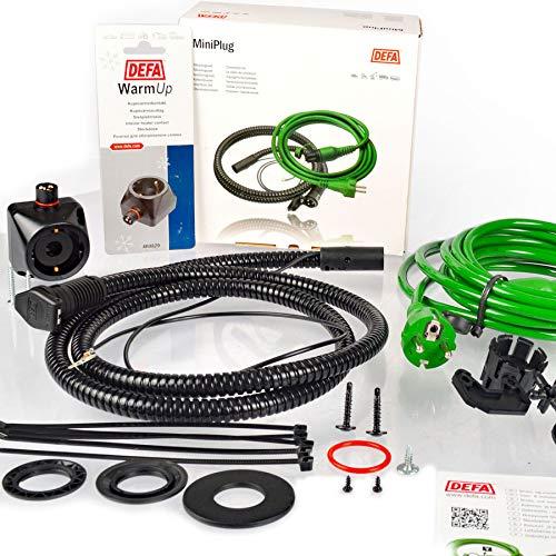 DEFA 460785 Warmup Anschluss Set Motorvorwärmer MultiCharger 5m Anbaumaterial + DEFA460829 Steckdose für Heizlüfter Termini 230 V Power Point Innen + Schrauben
