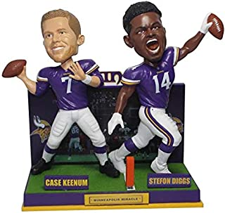 FOCO Case Keenum & Stefon Diggs Minnesota Vikings Minneapolis Miracle Bobblehead NFL