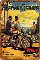BSAバンタムハワイビーチさびた錫のサインヴィンテージアルミニウムプラークアートポスター装飾面白い鉄の絵の個性安全標識警告アニメゲームフィルムバースクールカフェ40cm*30