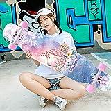 CEXTT Skateboard Pro 42'x 8' Planche à roulettes complète Dual Kickboard Concave 8 Couche...