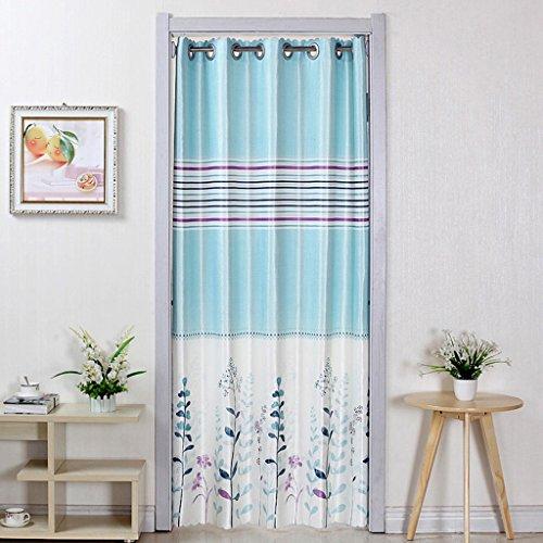 Liuyu · Maison de Vie Porte Rideau Tissu Recto-Verso Ménage Rideau Cuisine Salle de Bains Pièce Détachée Coupé Air Conditionné (Couleur : Bleu, Taille : 200 * 150cm)