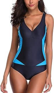 Women Siamese Sexy Bikini Set Push-Up Stripe Swimwear Beach Cover Ups Swimsuit
