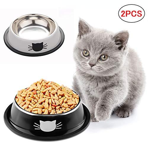 SaponinTree Cuencos para Gatos, 2 Piezas Cuencos