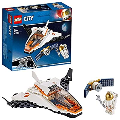 LEGO 60224 City Satellite Service Mission Mini Space Shuttle Toy inspired by NASA, Mars Expedition Series