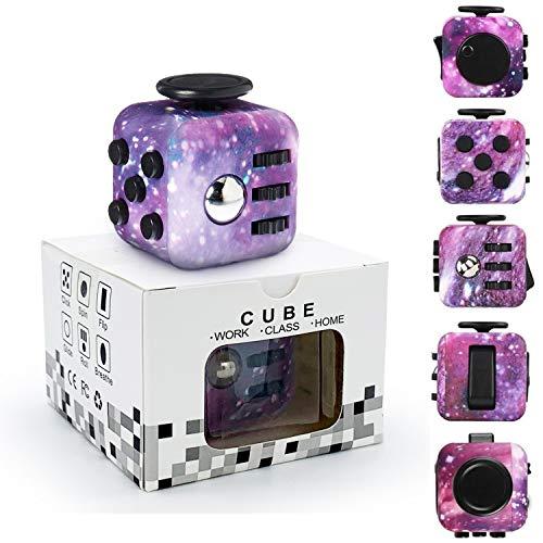 Yetech Cubo Anti-estrees,Galaxy Juguete Antiestrés Stress Cube para niños y Adultos