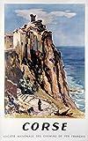 Unbekannt Poster, Korsika, Reproduktion, Format 50 x 70 cm,