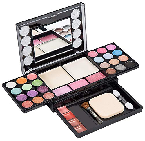 Eyeshadow Palette LT Makeup Palette 37 Bright Colors Matter and Shimmer Lip Gloss Blush Brushes Cosmetic Makeup Eyeshadow Highly Pigmented Palette for Girls Festival Birthday Gift Concealer Makeup Kit