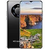 Teléfono Inteligente Desbloqueado, Android 10 Teléfono Celular Desbloqueado Teléfonos Dual Sim 6.5 Pulgadas Alta Definición 5200Mah Face ID + Huella Digital 5G,Negro