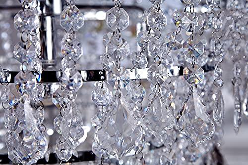 Große XL Design Hängelampe ROYAL Kristall Strass Kronleuchter Lampe Hängeleuchte Lüster klar Acrylglas - 7