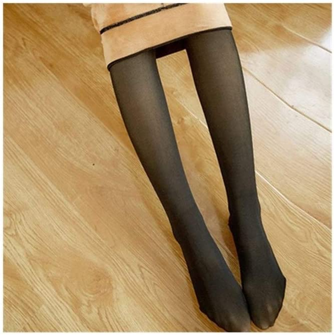 Moonlight Star Autumn and Winter Pantyhose Black Imitation Skin Women Tights Winter Pantyhose Transparent Elastic Tights Warm Thick Pantyhose (Color : A Style, Size : 140 g)