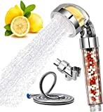 Vitamin C Shower Head Filter Handheld High Pressure Ionic Shower Filters with Hose Chlorine Fluoride Removal Hard Water Softener Showhead System Set
