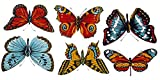 """4187 Butterfly Butterflies Ceramic Decals by The Sheet (Select-A-Size) (12 pcs 3"""")"""