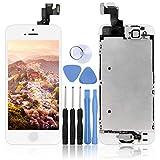 LL TRADER Bianco Display per iPhone 5s Schermo LCD Touch Screen Digitizer Parti di Ricambio (con Home Pulsante, Fotocamera, Sensore Flex) Utensili Inclusi
