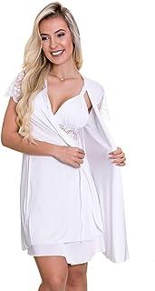 Robe Branco em Liganete e Renda - ES207