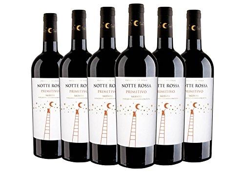 Salento IGT Primitivo Notte Rossa 2020 6 bottiglie da 0,75 L