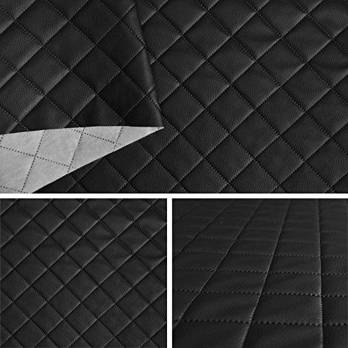 FORTISPOLSTER Kunstleder PVC gesteppt kaschiert 5x5cm Farbe: Schwarz T191 10