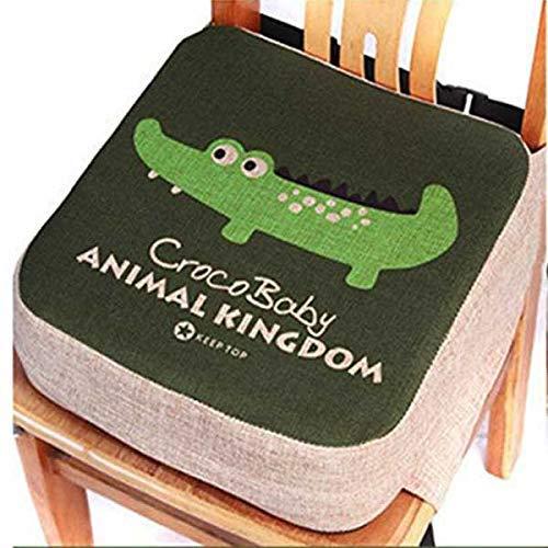 Lelestar Cuscino per bambini, rialzo per sedia da pranzo – Cuscinetto portatile per sedia, imbottito, con cinghie regolabili - per bambini piccoli (Crocodile)