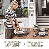 Miqio® Design Runde Tischsets aus Filz abwaschbar | Mit Marken Echtleder Label und Glasuntersetzer | 6 Platzsets 6 Untersetzer | Filzmatte Platzdeckchen abwschbari - 7