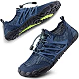 SIMARI Womens Mens Sports Water Shoes Quick Dry Barefoot for Swim Diving Surf Aqua Pool Beach Walking Yoga 303 Blue 11W/10M
