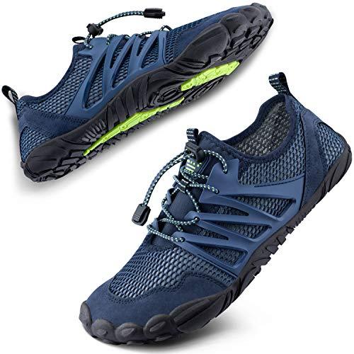 SIMARI Water Shoes Womens Mens Sports Quick Dry Barefoot for Swim Diving Surf Aqua Pool Beach Walking Yoga 303 Blue
