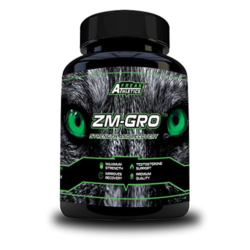 ZM-GRO - Zinc, Maganesium & Vitamin B6 ZMA Capsules - Helps Support Testosterone - Promotes Muscle Strength, Recovery, Energy & Better Sleep - UK Made ZMA Tablets
