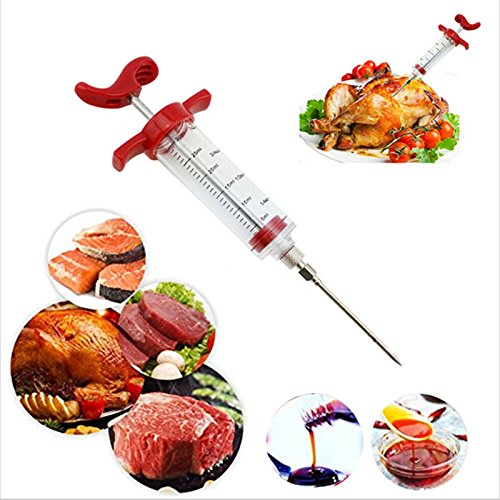 vLoveLife Meat Marinade Injector Syringe Seasoning Sauce Cooking Meat Poultry Turkey Chicken Flavor Syringe For BBQ Kitchen Cooking Tool