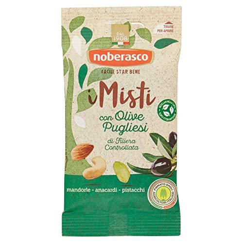 Noberasco Misto con Olive Pugliesi 35G 12 Misto di Frutta Secca Sgusciata e Olive Nere Denocciolate Disidratate-Confezioni da 35G - 0.42 kg